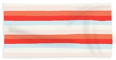 lumpy or bumpy lines abstract and colorful - QAB266 Beach Towel