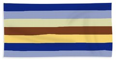 lumpy or bumpy lines abstract and summer colorful - QAB277 Beach Towel