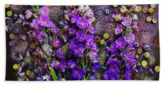 Lupine And Blueberries  Beach Sheet