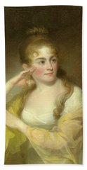 Portrait Of Lydia Leaming, 1806 Beach Towel