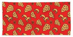 Mac And Cheese Pattern Beach Towel