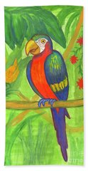 Macaw Parrot In The Wild Beach Sheet
