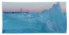 Mackinac Bridge In Ice 2161805 Beach Sheet