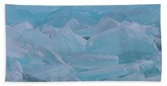 Mackinaw City Ice Formations 21618010 Beach Towel