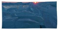 Mackinaw City Ice Formations 21618013 Beach Sheet