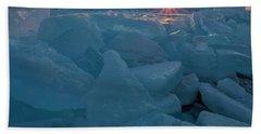 Mackinaw City Ice Formations 21618014 Beach Towel
