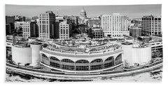 Beach Sheet featuring the photograph Mad City Monochrome by Randy Scherkenbach