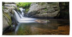 Beach Towel featuring the photograph Mad River Falls by Nathan Bush