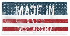 Made In Cass, West Virginia #cass #west Virginia Beach Towel