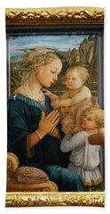 Madonna And Child Lippi The Uffizi Gallery Florence Italy Beach Towel