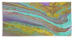 Magenta Turquoise And Gold Beach Towel