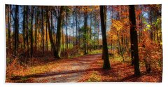 Beach Towel featuring the photograph Magic Of The Forest by Edmund Nagele