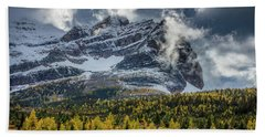 Magical Mountain Clouds Beach Towel