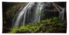 Magical Mystical Mossy Waterfall Beach Towel