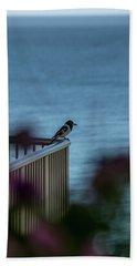 Magpie Bird Beach Towel