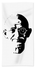 Mahatma Gandhi Minimalistic Pop Art Beach Towel