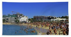 Beach Towel featuring the photograph Maho Beach by Tony Murtagh