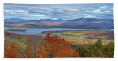 Maine Fall Colors Beach Sheet