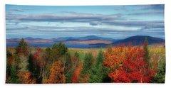 Maine Fall Foliage Beach Sheet