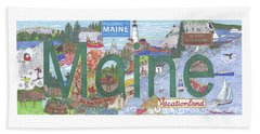 Maine Beach Towel