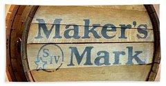 Makers Mark Barrel Beach Towel