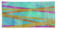 Malaysian Tropical Batik Strip Print Beach Towel
