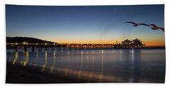 Malibu Pier At Sunrise Beach Sheet