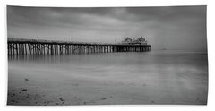 Beach Towel featuring the photograph Malibu Pier by John Rodrigues