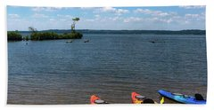 Beach Towel featuring the photograph Mallows Bay And Kayaks by Lora J Wilson