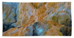 Beach Towel featuring the photograph Mammoth Hot Springs by Mae Wertz