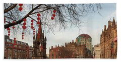 Manchester Town Hall Chinese New Year Lantern Decorations In Man Beach Towel