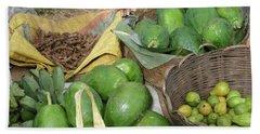 Mangos, Turmeric And Green Bananas  Beach Towel