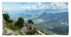 Beach Towel featuring the photograph Mannlsteig, Berchtesgadener Land by Andreas Levi