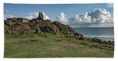 Man's Head - St Ives Cornwall Beach Towel