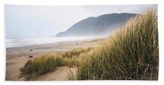 Beach Towel featuring the photograph Manzanita Beach by Whitney Goodey