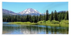 Manzanita Lake Reflection 1 Beach Towel