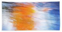 Maple Reflection Fall Beach Towel