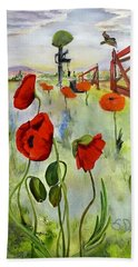 March With You Beach Towel