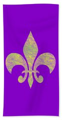Mardi Gras Party Fleur De Lis Beach Sheet