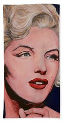 Beach Towel featuring the painting Marilyn Monroe by Tom Roderick