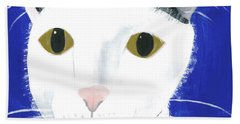 Beach Towel featuring the painting Marley by Suzy Mandel-Canter