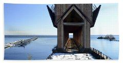 Marquette Ore Dock Cathedral Beach Towel
