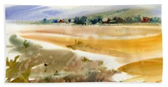 Marshy Shores Of Cape Cod Beach Sheet