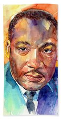 Martin Luther King Jr Watercolor Beach Towel
