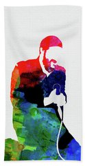 Marvin Gaye Watercolor Beach Towel