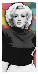 Beach Towel featuring the painting Marylin Monroe Diamonds by Carla Bank