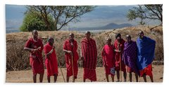 Maasai Men Beach Towel