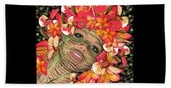 Mask Freckles And Flowers Beach Sheet