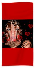 Mask Of Valentine Beach Towel