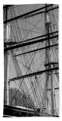 Masts And Rigging Of The Cutty Sark Beach Towel